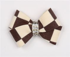 Susan Lanci Windsor Check Nouveau Hair Bow