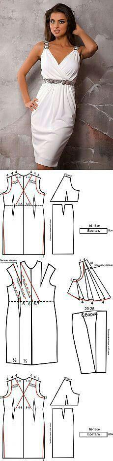 Római kori jellegű modern ruha szabásmintával