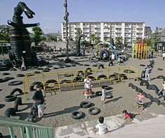 World's Coolest Playgrounds: Nishi Rokugo Park, Tokyo reclaimed over 3000 used tires in this playground