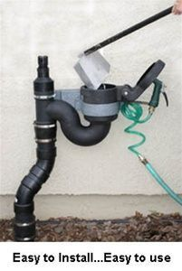 Pet Waste Disposal System - If you have a plethora of pets, you may want to consider the WasteAway dog waste disposal system, an easy-to-install outdoor pet waste disposal kit that mounts to the clean-out pipe in any standard sewer line and is perfectly Dog Kennel Designs, Kennel Ideas, Dog Yard, Dog Potty, Dog Rooms, Waste Disposal, Pet Dogs, Pets, Doggies
