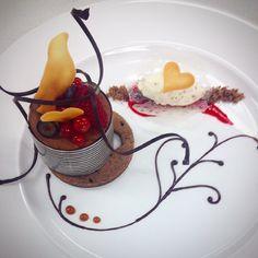 Le Cordon Bleu - Superior Patisserie -  Delice au Chocolat with Rosemary infused cream