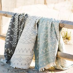 Turkish Cotton Diamond Throw in Outdoor Living Throws + Blankets at Terrain
