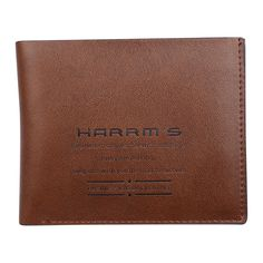 Harrms Men Wallets Brown Famous Brand Wallet Long Short Leather Purse Money Collection Harrm's Wallet High Quality