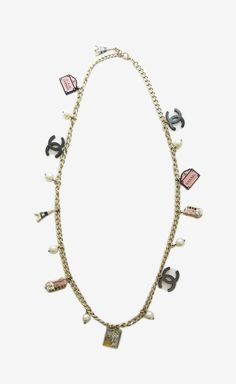 Chanel Gold And Pink Necklace