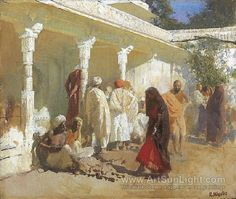 The Bazaar at Oudeypore - Edwin Lord Weeks