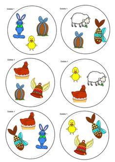 Jeu DoBBle spécial pâques (pour les petits de 3 ans et un peu moins): Easter Activities For Kids, Nursery Activities, Preschool Games, Kids English, Classroom Projects, Diy Games, Easter Crafts, Kids Toys, Creations