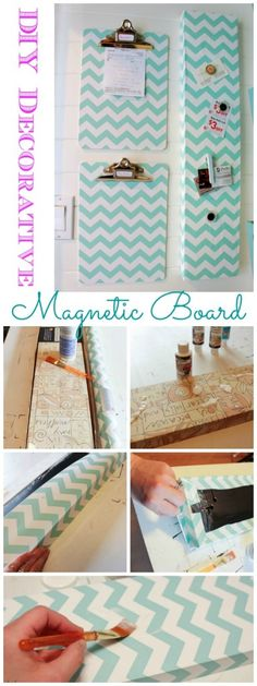 DIY Decorative Magnetic Board at The Happy Housie