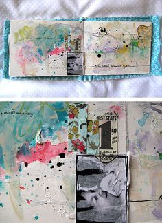 "Art Journal ""Lost in relations"" Heidi note: layout, line at bottom like a low horizon. Pic placement, textural throughout open/white space Art Journal Pages, Art Journals, Journal Ideas, Visual Journals, Journal Diary, Junk Journal, Sketchbook Inspiration, Art Sketchbook, Art Altéré"