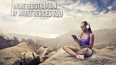 Online registration by mobile devices