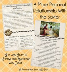 Little LDS Ideas: {12 Weeks of Christ}: A More Personal Relationship With the Savior with Printable 12-Week Challenge card