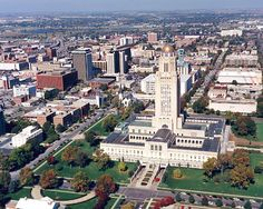 We're used to seeing Nebraska from the ground, but these pictures give us a whole new perspective. This is Nebraska from above. Nebraska State, Lincoln Nebraska, Nebraska Cornhuskers, The Places Youll Go, Great Places, Places Ive Been, Places To Visit, Before Us, Aerial View