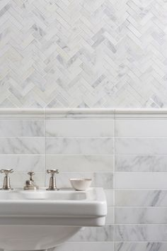 Our Alsace Honed Marble Herringbone Mosaic tiles are perfect for bathroom wall and floor tiling. Request a free sample of white marble tiles from Mandarin Stone. Marble Bathroom Floor, White Marble Bathrooms, Stone Bathroom, Mosaic Bathroom, Marbel Bathroom, Bathroom Tile Patterns, Tiled Bathrooms, Bad Inspiration, Bathroom Inspiration
