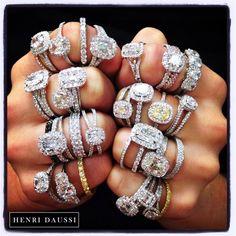 Henri Daussi engagement ring heaven!! #henri_daussi #engagement_rings