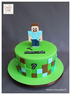 Minecraft By Crazy Cake - Torte Henning - Minecraft Cupcakes, Minecraft Torte, Minecraft Birthday Cake, Minecraft Pasta, Pastel Minecraft, Minecraft Ideas, Minecraft Secrets, Crazy Cakes, Mindcraft Cakes