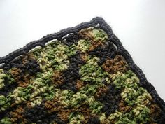 Baby Boy Afghan  Camouflage With Black by MooreHomemadeDesigns, $60.00