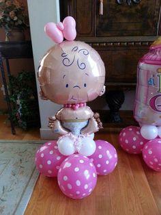 Small baby balloon column Kleine Babyballonsäule Source by . Baby Shower Balloon Decorations, Balloon Decorations Party, Baby Shower Balloons, Baby Shower Centerpieces, Decoration Party, Balloon Garland, Baby Shower Table, Boy Shower, Baby Shower Cakes