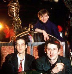Nick Cave, Mark E. Smith and Shane McGowan. London 1989.