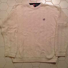 Men's sweater Men's cream sweater.  Chaps Ralph Lauren size large. Brand new never worn.  100% cotton. Chaps Sweaters Crew & Scoop Necks
