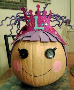 No-Carve Pumpkin Contest Ideas   LaLa Loopsy Pumpkin   Pumpkin Decorating   No Carve   Contest   Kids ...
