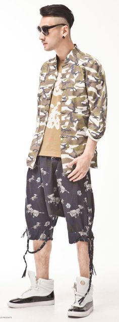 Men Camouflage Jacket Tang Suit Oriental Style Original Clothing