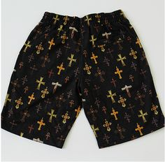 Supreme All Over Crosses Shorts (Black) Streetwear Shorts, Top Street Style, Fashion Labels, Crosses, Patterned Shorts, Supreme, Street Wear, Bring It On, Nyc