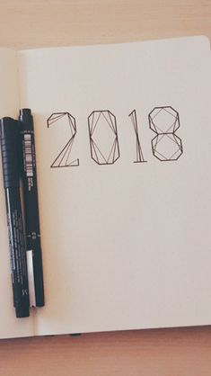 How is 2018 going? - # runs # like - handschrift - Typography My Journal, Bullet Journal Inspiration, Bullet Journel, Karten Diy, Doodles, Artsy, Notes, Scrapbook, Writing
