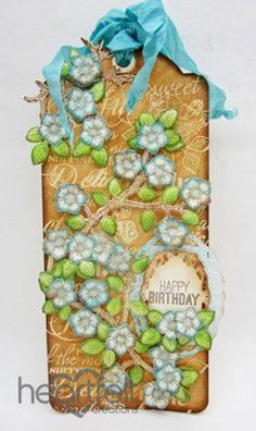 Heartfelt Creations   Birthday Blooms Tag