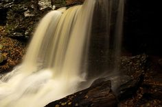 Up Close of Waterfall, Ricketts Glen State Park, Pennsylvania