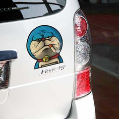 Haha,years is the knife to kill the Doraemon. How old are you? And how about stick it on your car? So funny.