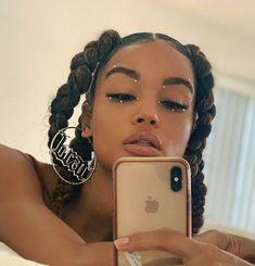 thick braided ponytails