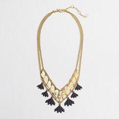 J.Crew Factory - Factory golden squares double-chain necklace