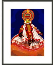 Available in different medium and sizes You can buy this item at :  http://fineartamerica.com/featured/painting-of-kathakali-dancer-debopriya-banerjee.html