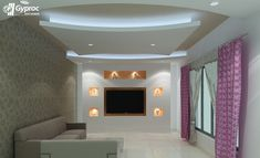 4 Startling Unique Ideas: False Ceiling Design For Porch wooden false ceiling kitchen.False Ceiling Design For Porch false ceiling ideas cabinets.False Ceiling For Hall Living Rooms. Kids Interior, Lobby Interior, Interior Design, False Ceiling Living Room, Bedroom Ceiling, Ceiling Plan, Ceiling Lights, Ceiling Ideas, Tips And Tricks