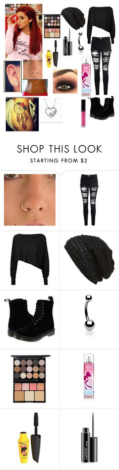"""""""Untitled #22"""" by briellereigns-1 ❤ liked on Polyvore featuring Glamorous, Crea Concept, King & Fifth Supply Co., Dr. Martens, Bling Jewelry, NYX, L.A. Colors and MAC Cosmetics"""