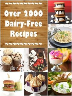 Dairy-Free Recipes – Over 2000 non-dairy, lactose-free, casein-free and completely milk-free recipes! Dairy-Free Recipes – Over 2000 non-dairy, lactose-free, casein-free and completely milk-free recipes! Lactose Free Diet, Lactose Free Recipes, Allergy Free Recipes, Lactose Free Dinners, No Dairy Diet, Lactose Free Snacks, Non Dairy Desserts, Allergies Alimentaires, Healthy Snacks