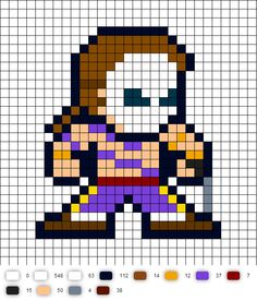 Vega Perler Bead Pattern (Street Fighter II)