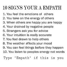I've known I was empathic at a young age. Im a healer, highy sensitive & intuitive empath. Been told that I'm as powerful as they come. 🙏😍 so honored to have such an amazing gift. Empath Traits, Intuitive Empath, Intuition, Empath Abilities, Infj Personality, Spiritual Awakening, Spiritual Quotes, Thing 1, Self Help