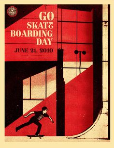Go Skateboarding Day 2010 Poster by Shepard Fairey / Obey