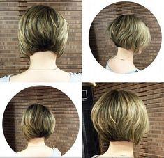 Classic Stacked Bob Haircut - Short Hair by kenya