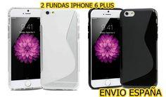 5X FUNDA GEL TPU S-LINE PARA IPHONE 6 6s PLUS 5,5 CASE.ENVIO ESPAÑA.5 UNIDADES