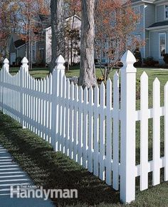 Maintenance-Free Fencing: Vinyl fences offer open picket designs or solid privacy versions. This would be easy to pressure wash!