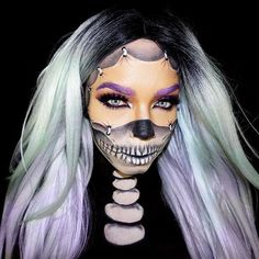 @spankievalentine pullin' it together for our #31DaysofHalloween series!  #nyxcosmetics products used: Vivid Brights Liner 'Vivid Blossom' and 'Vivid Violet' // Ultimate Shadow Palette in 'Brights' // Prismatic Shadow in 'Girl Talk' // Nude Matte Shadow 'In The Buff' // Hot Singles Eye Shadow in 'Ultraviolet' // Primal Colors 'Hot Pink' and 'Hot Black' // Wonder Pencil // White Liquid Liner  || #nyxprofessionalmakeup #ad