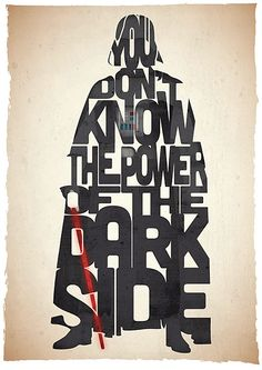 Darth Vader typography art print poster based on a quote from the movie Star Wars Return Of The Jedi on Etsy, Darth Vader Star Wars, Darth Maul, Citations Star Wars, Citations Film, War Quotes, Star Wars Quotes, Movie Quotes, Cinema Quotes, Famous Quotes