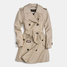 This is what you wear when it's not freezing anymore, but it's still gray out, kinda drizzly, and still just a little too cold. In other words, the weather most of the time. And it goes with everything.  Coach Mid-Length Trench, $575; coach.com