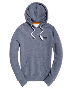 Superdry Orange Label Hoodie Grey