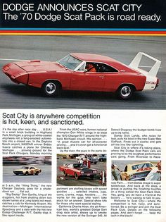 1970 Dodge Scat Pack Advertising Hot Rod Magazine October 1969