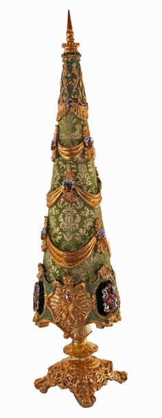 """Katherine's Collection Tapestry Christmas Collection 34.5"""" Large Jeweled Christmas Tree Free Ship"""