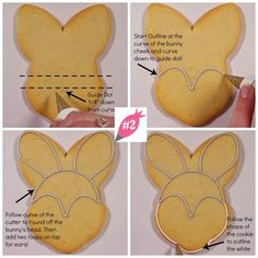 Flour Box Bakery — How to Decorate an Easter Bunny Iced Cookies, Easter Cookies, Royal Icing Cookies, Sugar Cookie Icing, Holiday Cookies, Sugar Cookies, Baby Cookies, Heart Cookies, Valentine Cookies