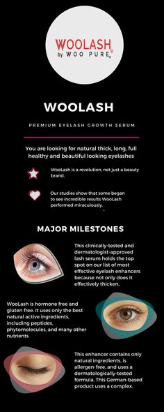 886aa416e40 WooLash Is The Selling, Award-Winning Pure Natural Innovative Formulated  Premium Eyelash Growth Serum By Woo Pure, With Success Stories Worldwide!