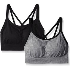 a075524395 Spalding Women s Strappy Cami Seamless Bra in a Value (Pack of 2)   You